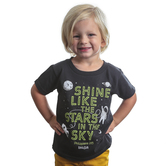 Kerusso, Philippians 2:15 Shine Astronaut, Kid's Short Sleeve T-shirt, Black, 3T-Youth Large