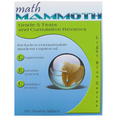 Math Mammoth, Grade 5 Tests and Cumulative Reviews, Light Blue Series by Maria Miller, Paperback, Grade 5