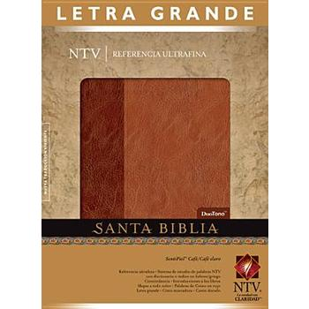 NTV Slimline Spanish Reference Bible, Large Print, Duo-Tone, Brown and Tan