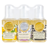 Michel Design Works, Mini Foaming Hand Soap Set, Lemon Basil, Lavender Rosemary, Honey Almond, 4.7 ounces each