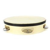 Westco Educational Products, Wood Tambourine with Head, 8 Inches, Natural , 1 Piece