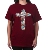 Kerusso, Harvest God's Love, Women's Short Sleeve T-shirt, Garnet, S-3XL