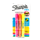 Sharpie, Gel Highlighters, Bullet Point, Assorted Colors, Pack of 3
