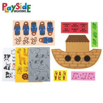 Playside Creations, Foam Noah's Ark Kits, Multi-Colored, 6 Count