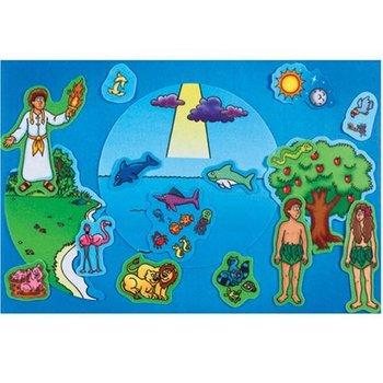 Little Folk Visuals, Beginner's Bible Creation and Adam and Eve Felt Set, 17 Pieces