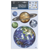Planet Decals, Assorted Colors, 1 5/16 to 6 7/8 Inches, 10 Stickers