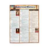 BarCharts Inc, American History 1 Laminated Quick Study Guide, 8.5 x 11 Inches, 6 Pages, Grades 6-Adult