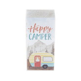 P. Graham Dunn, Happy Camper Wood Block, Pine Wood, 3 1/2 x 1 3/4 inches