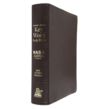 NASB 77 Hebrew-Greek Key Word Study Bible, Genuine Goatskin Leather, Brown