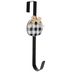 Buffalo Check Pumpkin Wreath Hanger, Metal, Black & White, 14 1/2 inches