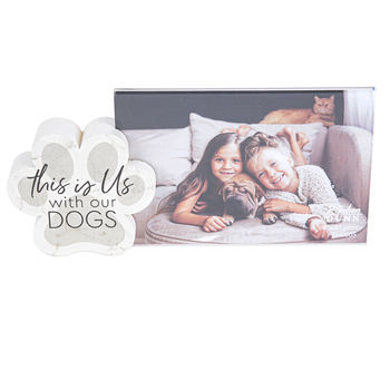 P. Graham Dunn, This Is Us With Our Dogs Photo Frame, Holds 4 x 6 Photo, 8 1/2 x 4 inches