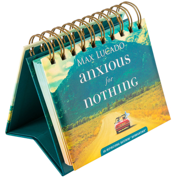 DaySpring, Max Lucado Anxious For Nothing Perpetual Calendar, Paper, 5-1/2 x 5-1/4 x 1-1/4 inches
