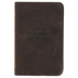 Christian Art Gifts, Matthew 19:26 All Things Are Possible Pocket-sized Journal, Leather, Brown, 192 Pages