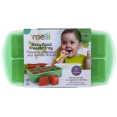 Melii, Baby Food Freezer Tray with Lid, Mint, 8 1/4 x 4 1/4 x 2 inches