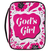 Swanson, Gods Girl Bible Cover, Canvas, Pink, Multiple Sizes Available