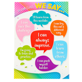 Teacher Created Resources, In Our Class We Say Positive Poster, 13 x 19 Inches, 1 Piece