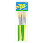 Crafts Etc, Kids Round and Flat Bristle Brushes, Set of 4