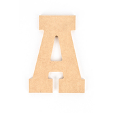 Woodpile Fun, MDF Natural Wood Color Letter - A, 5 inches, Brown