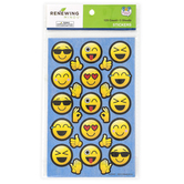 Pop Mania Collection, Emoji Shaped Stickers, Multi-Colored, 125 Stickers