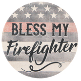 Carson Home Accents, Bless My Firefighter Car Coaster, Absorbent Stoneware, 2 3/4 inches
