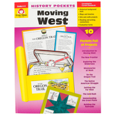 Evan-Moor, History Pockets Moving West Teacher Reproducible, Paperback, 96 Pages, Grades 4-6