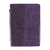 Christian Art, Hebrews 11:1 Faith Bible Cover, Imitation Leather, Purple, Large