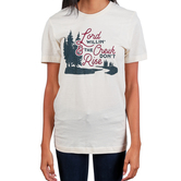 Ruby's Rubbish, Lord Willin' and the Creek Don't Rise, Women's Short Sleeve T-shirt, Cream, S-2XL