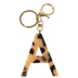 A Letter Keychain, Leopard, 2 3/4 x 2 1/4 Inches