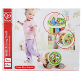 Hape, Walk-A-Long Snail, Wood, 12 x 4 1/2 x 7 1/4 inches, 5 Pieces, Ages 12 Months & Older