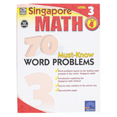 Carson-Dellosa, Singapore Math 70 Must-Know Word Problems Level 3 Workbook, Reproducible, Grade 4