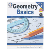 Carson-Dellosa, Geometry Basics Resource Book, Reproducible Paperback, 96 Pages, Grades 5-8