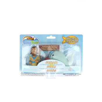 Cactus Game Design Inc., Jonah and the Big Fish Playset, Ages 3 Years and Older, 3 Inches, 2 Pieces