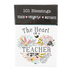 Christian Art Gifts, The Heart of a Teacher Box of Blessings, 2 1/2 x 1 x 3 3/4 inches, 50 cards