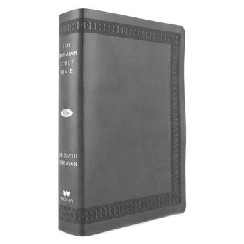NKJV Jeremiah Study Bible, Imitation Leather, Charcoal