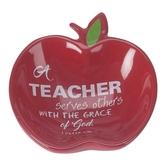 Dicksons, A Teacher Serves Trinket Dish, 1 Peter 4:10, Terra Cotta, Red, 2 3/4 inches