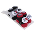 Rising Star, I Love Mom & Dad Baby Socks, Gray, Red, & Black, 0 to 12 Months, 2 Pairs