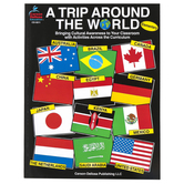 Carson-Dellosa, A Trip Around the World Activity Book, Reproducible Paperback, 112 Pages, Grades K-5