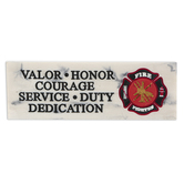 Fireman Decorative Tabletop Plaque, Marble Look, 7.50 x 2.50 Inches