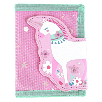 Stephen Joseph, Unicorn Bi-Fold Wallet, Ages 3 to 6 Years Old, 3 1/2 x 4 1/2 inches