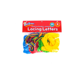 Center Enterprises, Upper Case Lacing Letters, Assorted, 3 x 4 Inches, 34 Pieces