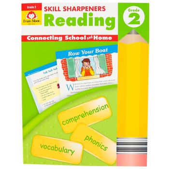 Evan-Moor, Skill Sharpeners Reading Activity Book, Paperback, 144 Pages, Grade 2