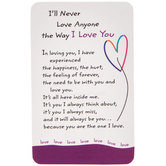 Blue Mountain Arts, Ill Never Love Anyone The Way I Love You Wallet Card, 2 x 3 1/4 inches