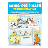Scholastic, Comic-Strip Math Problem Solving Workbook, 96-Pages, Paperback, Grades 3-6
