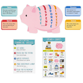 Creative Teaching Press, Financial Literacy for Kids Bulletin Board Set, 33 Pieces