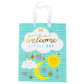 Brother Sister Design Studio, Medium Gift Bag, Welcome Little One, 9 1/2 x 11 1/2 x inches