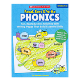Scholastic, Read Sort and Write Phonics Activity Book, Paperback, 64 Pages, Grades K-2