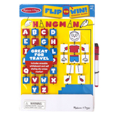 Melissa & Doug, Flip-to-Win Hangman Travel Game, 10 1/4 x 8 3/4 inches, Ages 6 & Older