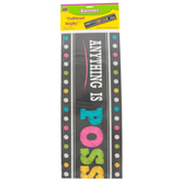 Teacher Created Resources, Chalkboard Brights Anything Is Possible If You Try Banner, 39 x 8 Inches