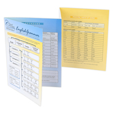 Classical Conversations, Trivium Tables: English Grammar, Laminated Fold-Out Guide, Grades 4 and up