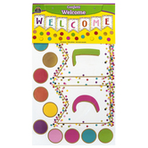Teacher Created Resources, Confetti Pennants Welcome Bulletin Board Set, 60 Pieces